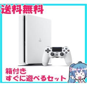 PlayStation 4 グレイシャー・ホワイト 500GB CUH-2000AB02 プレステ4 箱付き 中古|naka-store