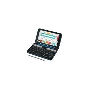 SHARP カラー電子辞書(音声対応/タイプライターキー配列)  PW-SS6-K(ネイビー系)|nakaden