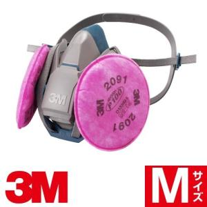 3M 防じんマスク 6500QL/2091-RL3 取り替え式 Mサイズ