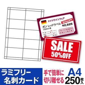 ラミフリー 名刺カード 10面 A4 250シート|nakagawa-direct