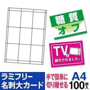ラミフリー 名刺大カード 9面 A4 100シート|nakagawa-direct