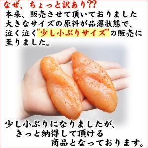 お中元 博多まるきた水産(訳あり ワケアリ わけあり)無着色 辛子明太子1kg/約20〜25本入り 小ぶり(めんたいこ ギフト)|nakagawa-k-ichiba|03
