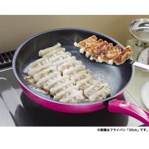 ダイアモンドコート 超軽〜い フライパン2 26cm 谷口金属 ガス火専用 フライパン ピンク 軽い 550g 調理器具 軽量 nakagawa2030 04