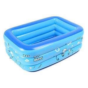 iKing プール 家庭用 ファミリープール 子供用プール ビニールプール 水遊び 2-3人 レジャープール ジャンボプール 厚く 漏れ防止の画像