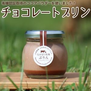 なかほら牧場プリン〔チョコレート〕[冷蔵便] スイーツ 無添加 デザート 牛乳 ジャージー 放し飼い卵 ギフト 青空レストラン お歳暮 内祝い|nakahora-bokujou