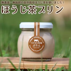 なかほら牧場プリン〔ほうじ茶〕[冷蔵便] スイーツ 無添加 デザート 牛乳 ジャージー 放し飼い卵 ギフト 青空レストラン お歳暮 内祝い|nakahora-bokujou