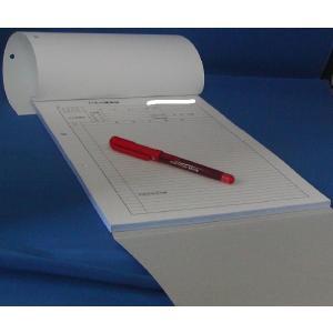 2枚複写 下敷き付製本 2穴付き 打合せ議事録 A4サイズ 2×50×50冊 nakamura-insatsu