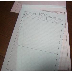 2枚複写 5ミリ方眼入り2色 打合せシート 連絡記録 A4サイズ 2×50×30冊 nakamura-insatsu