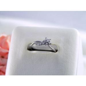 K18ホワイトゴールドダイヤモンドリング フラワーモチーフ nakamura-jwo