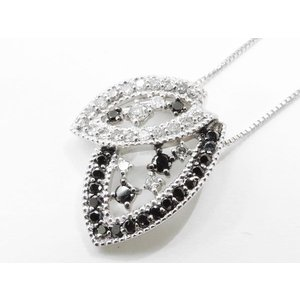 K18WG (18金 ホワイトゴールド) ブラックダイヤモンドネックレス 4949741 nakamura-jwo