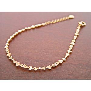K18ゴールド ハートダイヤブレスレット 90016813|nakamura-jwo