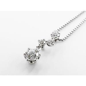 HOSHInoSUNA (星の砂) K18WG (18金 ホワイトゴールド) ダイヤモンドネックレス nakamura-jwo