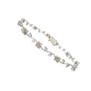 K18ホワイトゴールドダイヤモンドブレスレット 10-4244 677009|nakamura-jwo