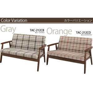 ソファ オレンジ orange 灰色 グレー gray ソファー TAC-212 az|nakane|05