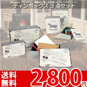 小物入れ ボックス セット 缶 北欧 ミッドセンチュリー カントリー FKO-474,475 az|nakane