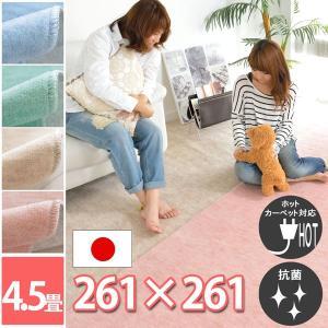 カーペット 4.5畳 ラグ 春夏用 正方形 カーペット 日本...