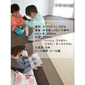 冬用 カーペット 3畳 ラグ 撥水 カーペット 犬  ラグマット 防音 子供部屋 和室 汚れに強い|nakane|05