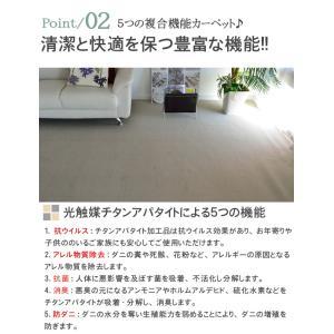 カーペット 6畳 カーペット ラグ ホットカーペット対応 おしゃれ 防臭 シンプル 無地 ペットOK フレヤ|nakane|04