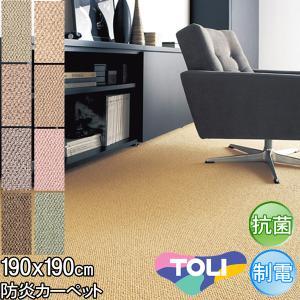 ラグ マット カーペット ラグ 防ダニ 抗菌 190×190 東リ マスターフル|nakane
