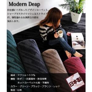カーペット デザインカーペット 6畳 カーペットラグ モダン 日本製 MODERN DEAP|nakane|05