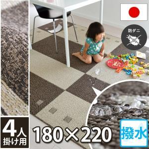 撥水 防汚カーペット ラグ 180x220 4人掛 シンプル デザイン 汚れが目立ちにくい ラグマット ガナッシュ|nakane