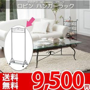 ハンガーラック ラック ポールハンガー 衣類収納 アイアン ブラック タカナシ RE-H4880 nakane