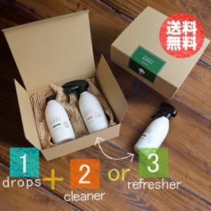 「ドロップス・加湿器用 除菌 消臭剤」と、 「リフレッシャー・消臭ミスト」もしくは「クリーナー・汚れ...