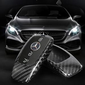 benz メルセデスベンツ Eクラス AMG スマートキーカバー 高級 リアルカーボン キーケース ...