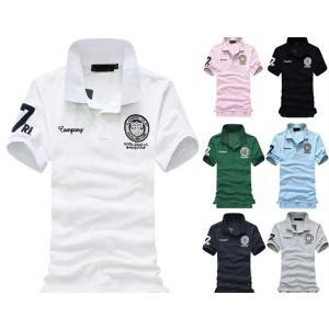 品質改良版 通学 通勤 ポロシャツ レディース 半袖 刺繍 5L かっこいい グレー シャツ メンズ ポロシャツ nakanoshokai