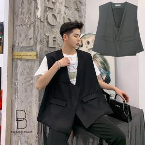 ゆったり 韓流 ジェンダーレス ストリート系 大きいサイズ カジュアル チョッキ ファッション ベスト ジレ nakanoshokai