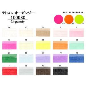 テトロン オーガンジー生地 ポリエステル100%の定番オーガンジー 22色 衣装|nakanotetsu