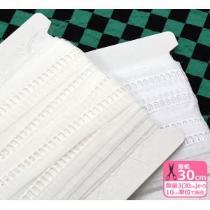 甚平はしごレース 2142 細幅 巾約2.6cm コットン100% 手芸材料 副材料|nakanotetsu