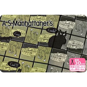A.S.Manhattaner's A.S.マンハッタナーズ いい気分 綿シーチングプリント 生地 布 nakanotetsu