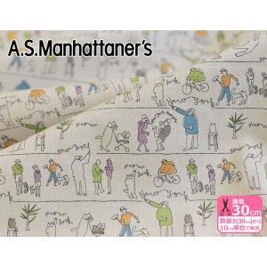 A.S.Manhattaner's シティライン シーチング 日本限定 City Line 生地 布 AS13023S nakanotetsu