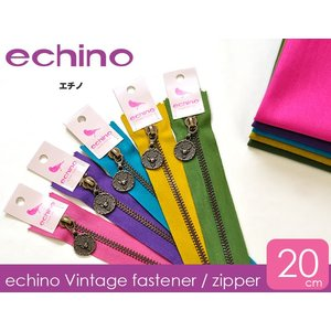 echino エチノ ヴィンテージファスナー 20cm 5color 手芸材料 洋裁材料|nakanotetsu