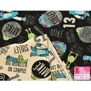 ディズニー モンスターズ・ユニバーシティ 11号帆布ハンプ やや厚手 コットン100% 110cm巾【G-7344-1】|nakanotetsu
