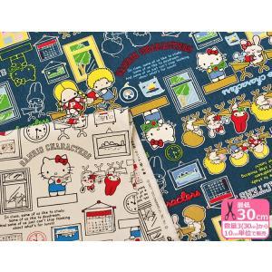 SANRIO サンリオ キャラクターズ 11号帆布ハンプ やや厚手 コットン100% 110cm巾 生地 布 G-8057-1|nakanotetsu