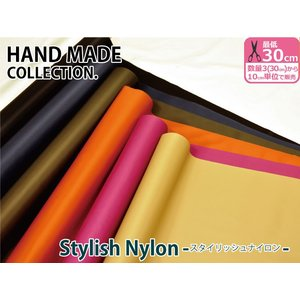 【HAND MADE COLLECTION.】スタイリッシュナイロン程良い光沢感スパイシーカラーのナイロン地|nakanotetsu