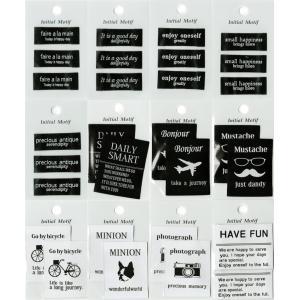 モチーフタグネーム Sサイズ Mサイズ 縫い付けタイプ Initial Motif series|nakanotetsu