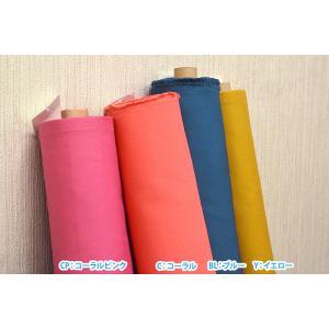 パレットカラーハンプ 11号帆布 カラー無地 全14色 kokochi fabric 丈夫でやや厚手の生地 コットン100% 110cm巾  キャンバス生地 KOF-02 nakanotetsu 05