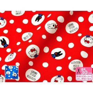【BOブルー追加!】KTリサとガスパール ハローキティ×リサガス みずたまドット柄 オックスプリント 日本限定販売 745189 745196|nakanotetsu