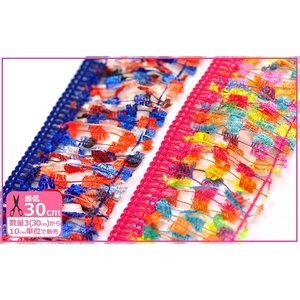 mi-yaミーヤ マフラーやストールの飾り付けにレインボーフリンジ ふちどりテープ副材料 手芸材料 洋裁材料 入園入学用品の手づくりに|nakanotetsu
