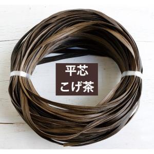 プラスチックラタン マジックラタン 平芯 こげ茶 約50m巻 MLC11-A10 ラタン 籐 風素材 かごバック 手芸 クラフト材料 nakanotetsu