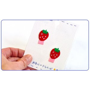 【お気に入りシリーズ♪】なふだワッペン2枚付きいちご♪♪【アイロン接着】【手芸材料】【入園入学用品の手づくりに】|nakanotetsu