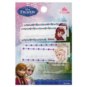 Disney ディズニー プリンセス アナと雪の女王 まいネーム(アナ&エルサ)各2枚付 アイロン接着 入園入学|nakanotetsu