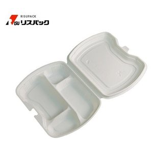 【300枚】ニュートデリカ シェルBOX80-1 アイボリー 使い捨て 弁当容器リスパック 1枚あたり124.4円|nakapack