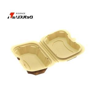 【300枚】バイオデリカ シェルBOX20 クラフトB 使い捨て 弁当容器 リスパック 1枚あたり34.4円|nakapack