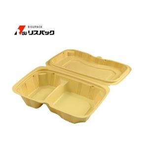 【200枚】バイオデリカ シェルBOX60-1 クラフトB 使い捨て 弁当容器 リスパック 1枚あたり65.7円|nakapack