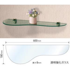 ガラスシェルフGP グラマラスな高級棚板 ブラケット付 |nakasa2