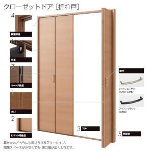 ラシッサクローゼットドア 折れ戸 レールタイプ(2枚折れ戸)APCF-LAA トステム  室内 室内ドア 折戸 建具|nakasa2|02